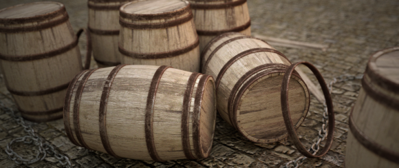 Rendering Wooden Barrels in Cycles videotutorials