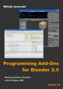 Free e book: Programming Add ons for Blender 2.5 python scripts books