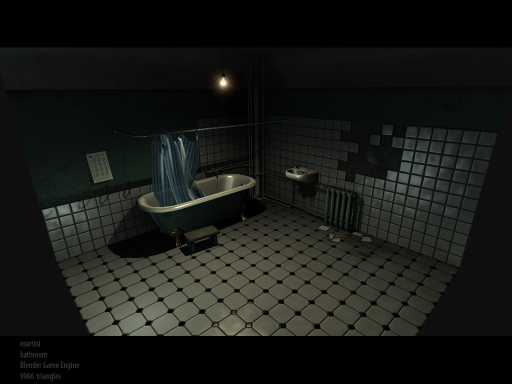 bathroom horror game bathroom demo blender engine blendernation 10085