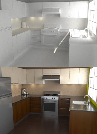 Model Texture And Render A Photo Realistic Kitchen In