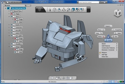Autodesk 123D beta   Free Solid modeling for Builders toolbox