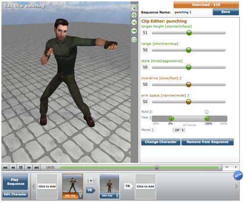 Motion capture data bvh tools and files blendernation for 3d setup builder