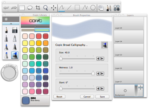 AutoDesk Sketchbook Copic Edition   Free toolbox