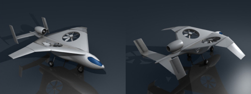 VTOL aircraft for Garrow Aircraft made with Blender art