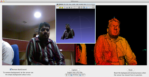 3D Scanner software using Kinect for OS X toolbox