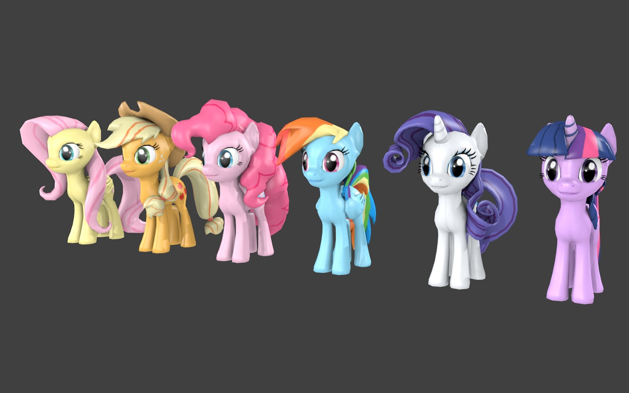 Christian imported and textured a set of my little ponies models into