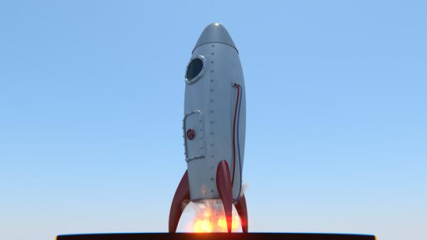 Free Model: Retro Rocket - BlenderNation
