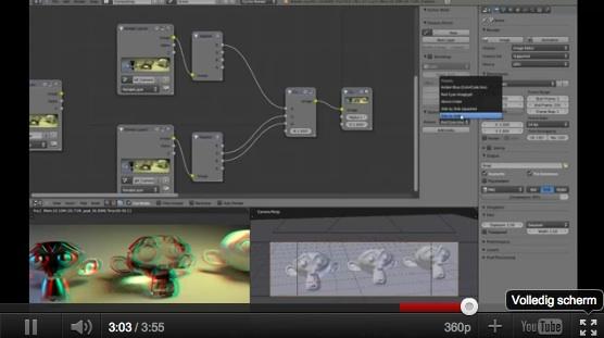 Videotutorial: Anaglyphic 3D rendering videotutorials python scripts