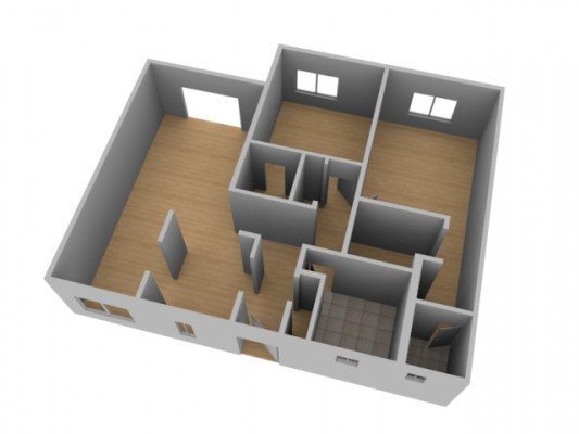 Create a 3d floor plan model from an architectural for 3d building creator