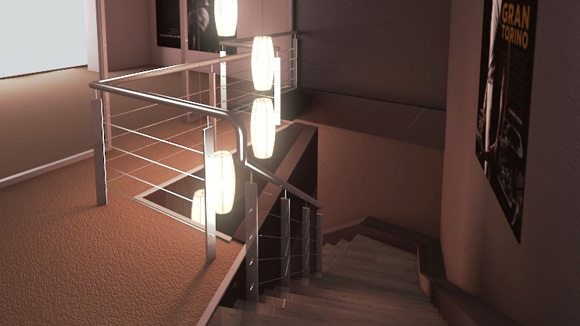 Hall and Staircase Scene Lighting and Compositing Tutorial (French) videotutorials