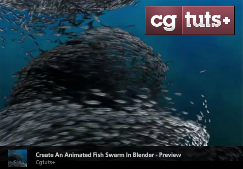 Creating an animated fish swarm using particles for Fish in a blender