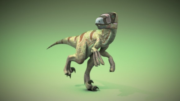 Model: Dromaeosaur Raptor blender models and rigging sytems