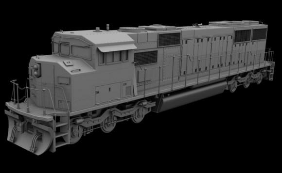 Model: Diesel Locomotive blender models and rigging sytems