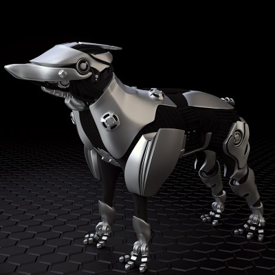 Model: Dog Scout blender models and rigging sytems