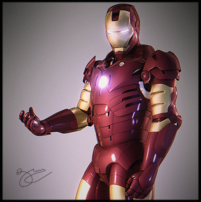 Model: Iron Man blender models and rigging sytems
