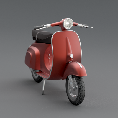 Model: Vespa blender models and rigging sytems