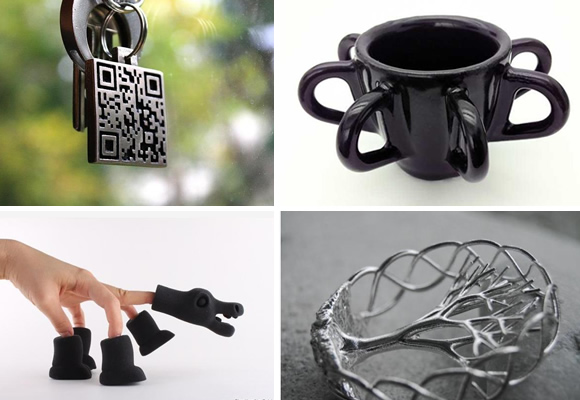 Non Blender: 3D Printing in Steel, Silver, Ceramics and Rubber like material 3d news