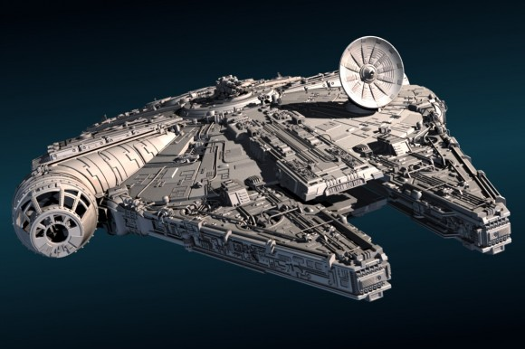 Model: Millenium Falcon blender models and rigging sytems