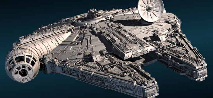 free 3D model of the Millenium Falcon