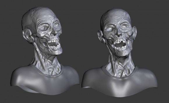 Model: Zombie blender models and rigging sytems