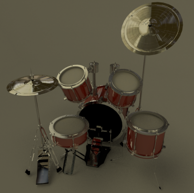 Drums! blender models and rigging sytems