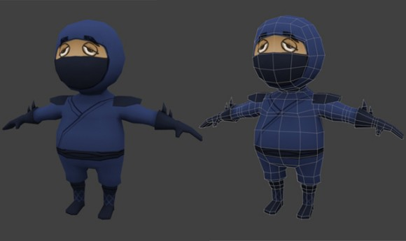 Creating A Low Poly Ninja Game Character  tutorials