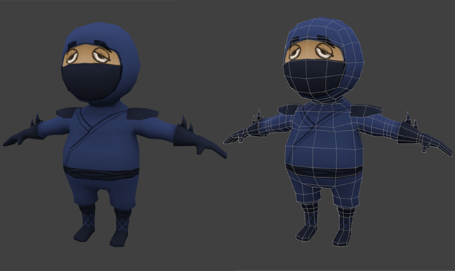 Low Poly Character Modeling Blender : Creating a low poly ninja game character blendernation