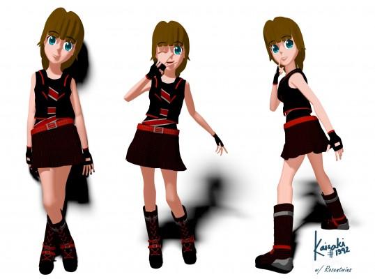 Model: Miki blender models and rigging sytems