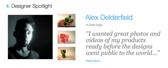 Alex Delderfield in Designer Spotlight at Shapeways people