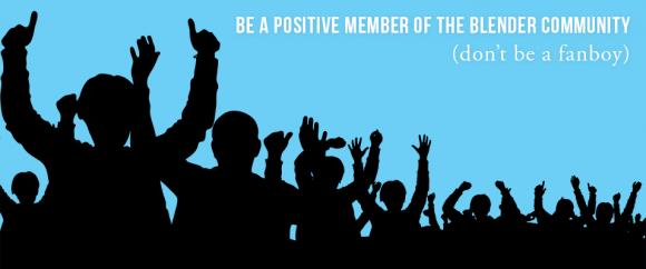 How to Be a Good Member of the Blender Community blender community