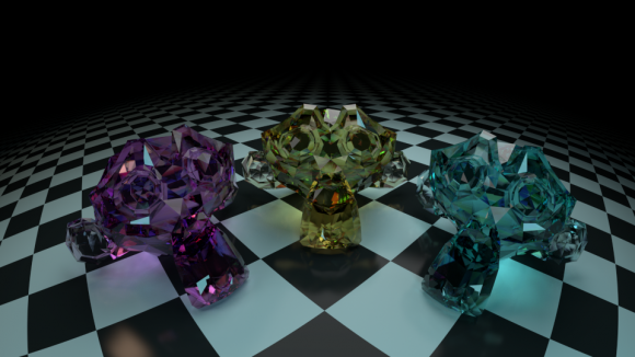 Cycles Dispersion Glass Shader blender models and rigging sytems