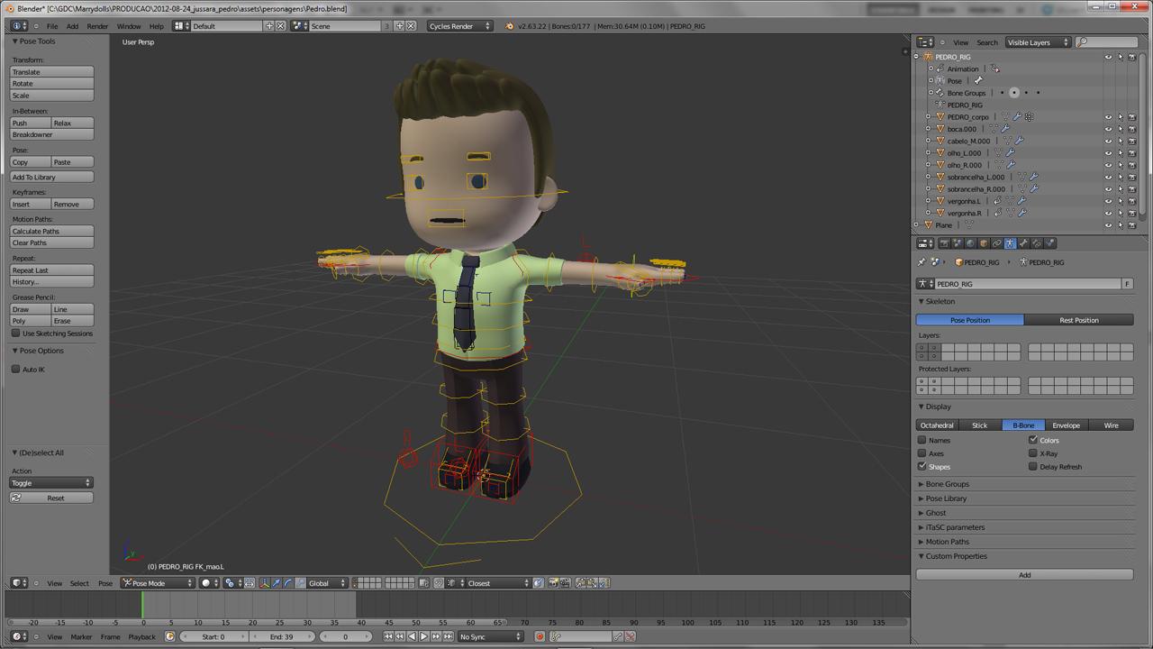 Blender Character Modeling 10 Of 10 : Marrydolls d animation for weddings blendernation