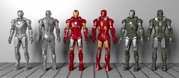 Model Download: Iron Man Mark 7 Armors blender models and rigging sytems
