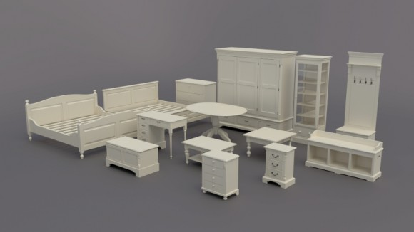 Model Download: Furniture provence style 3d news
