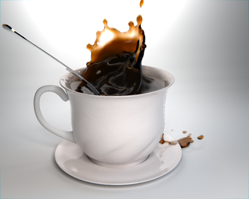 Model Download: Coffee Splash on Cup blender models and rigging sytems