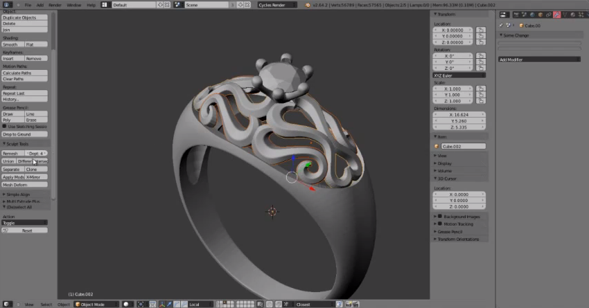 Tutorial designing jewelry for 3d printing with blender Simple 3d modeling online