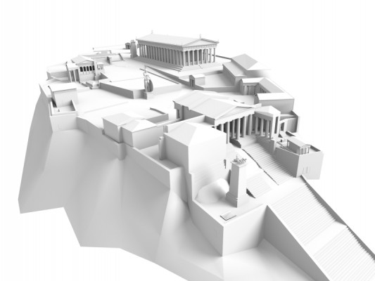 Model Download: Acropolis of Athens 165AD blender models and rigging sytems