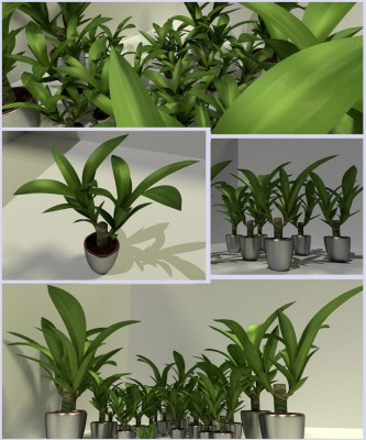 Model Download: Indoor Plant blender models and rigging sytems