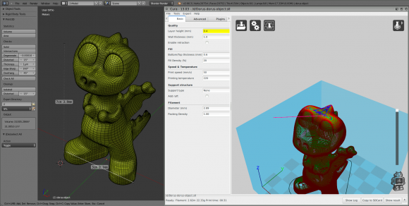 Blender 2.67 Feature: 3D Printing Toolbox blender