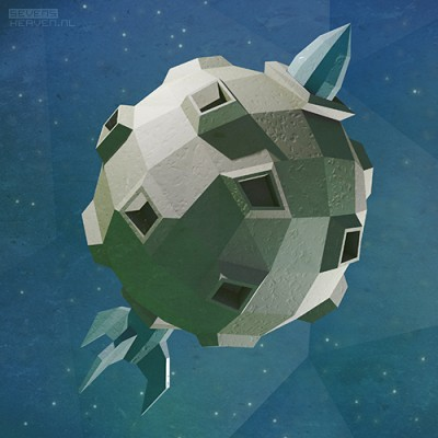 low-polygon-3d-artwork-illustration-illustratie_maan-moon-raket-rocket
