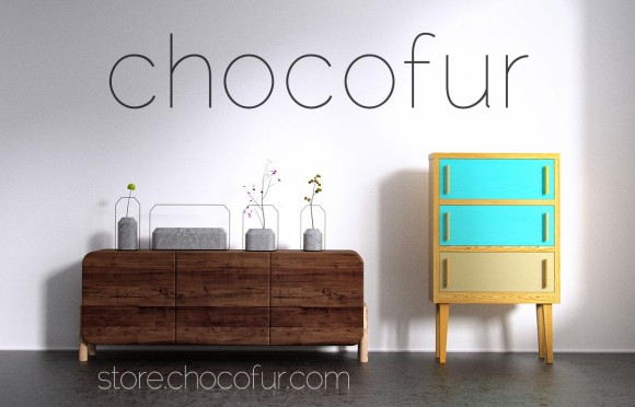 Chocofur: Furniture Models for Blender blender models and rigging sytems