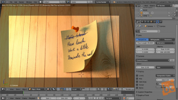 creating a postit in blender