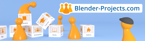 Blender Projects.com in Beta 3d news