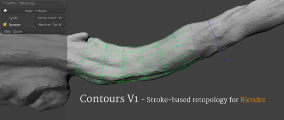 Contours Retopology Addon v1.0 Released add ons