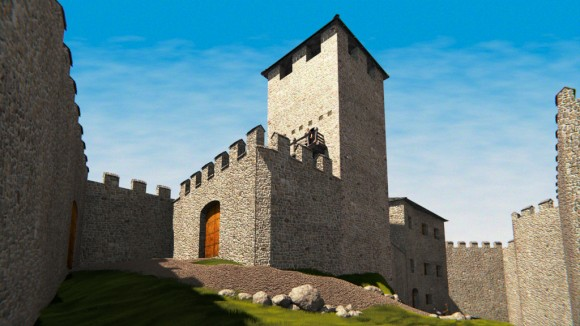 Archaeological reconstruction of Caldonazzo castle, Italy 3d news