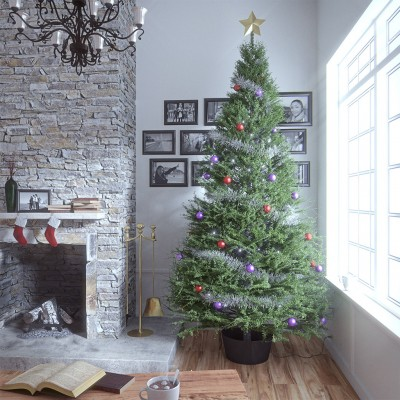 christmas tree3 half - Half Christmas Tree