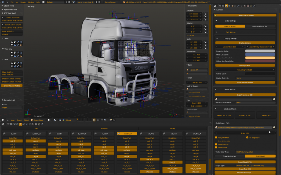 Euro Truck Simulator creates Blender add on add ons