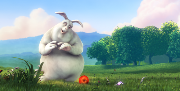 Big Buck Bunny in 4K 3D Stereo 60fps video art peach
