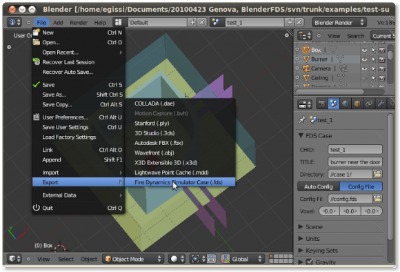 blender export menu