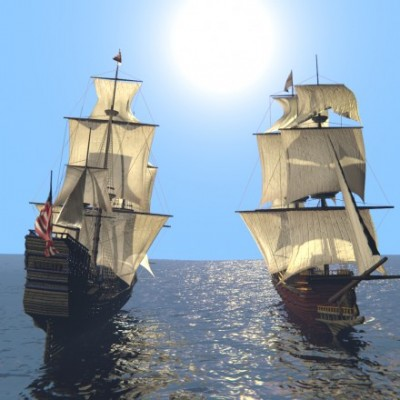 Model Download: Battle Ship blender models and rigging sytems